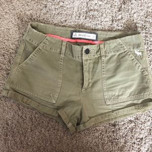 Abercrombie and Fitch Green Tea Shorts
